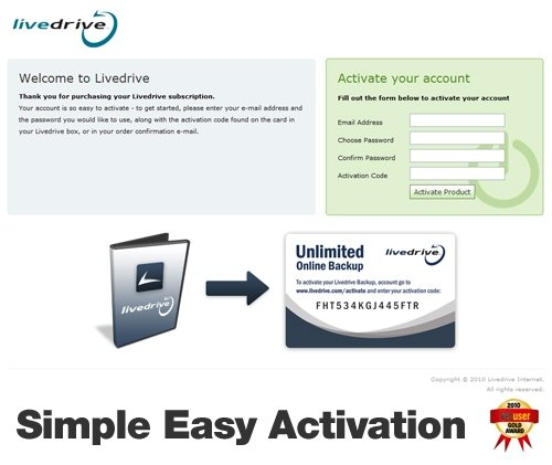 livedrive account easy activation