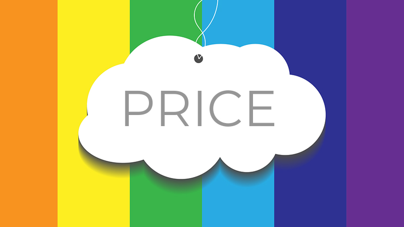 colorful cloud price tag