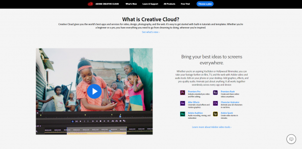 adobe cloud website