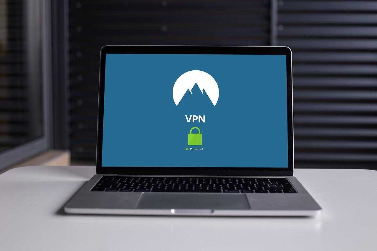 Laptop showing expressvpn vs nordvpn